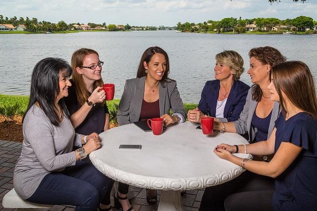 CardioServ Staff Having Coffee
