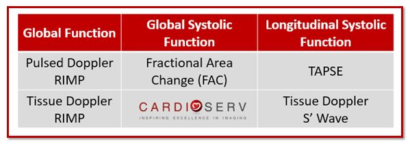Right Ventricle Function Evaluation Methods