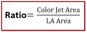 color jet area ratio mitral regurgitation