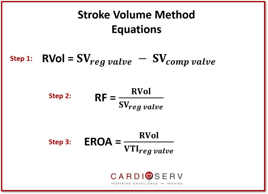 Stroke Volume MR Equations