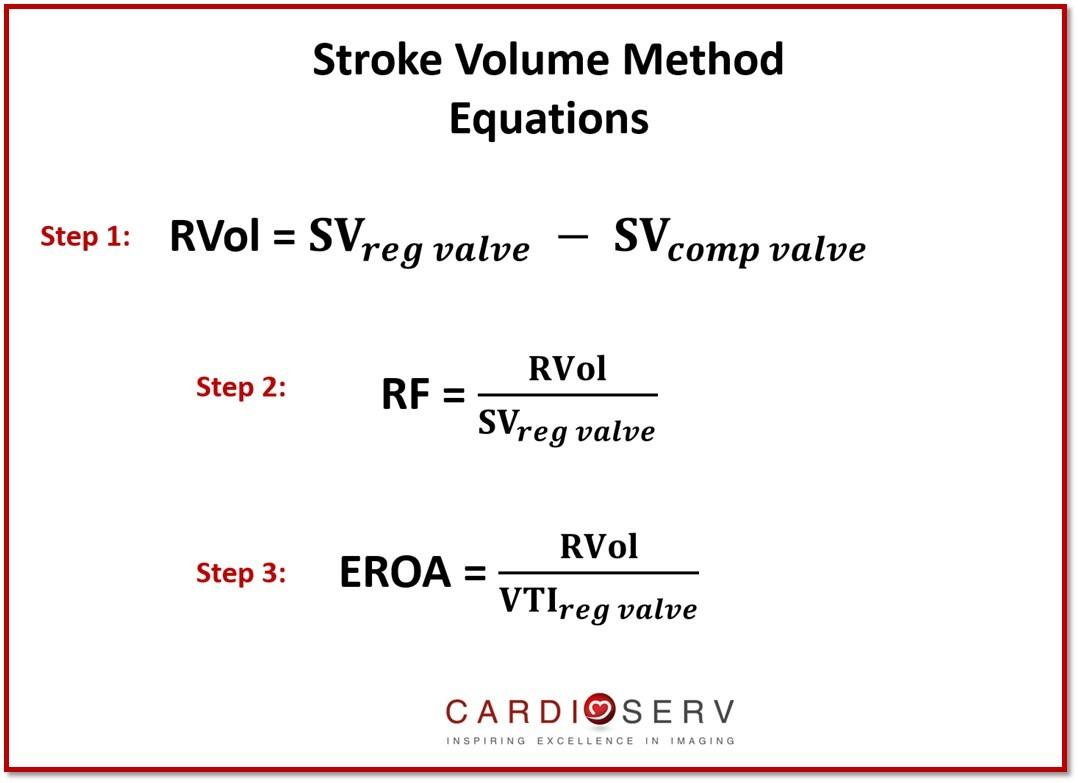 Stroke Volume MR Equations