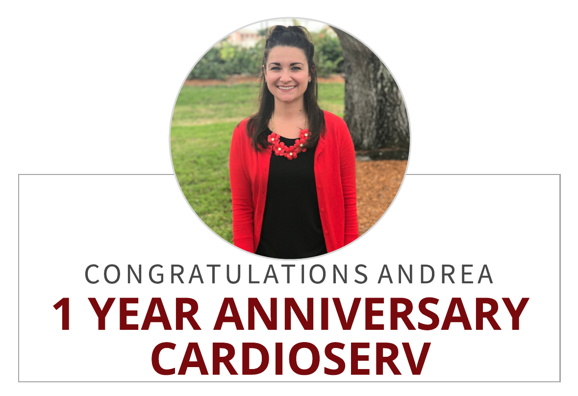 Celebrating Andrea Fields 1 Year Anniversary at CardioServ!