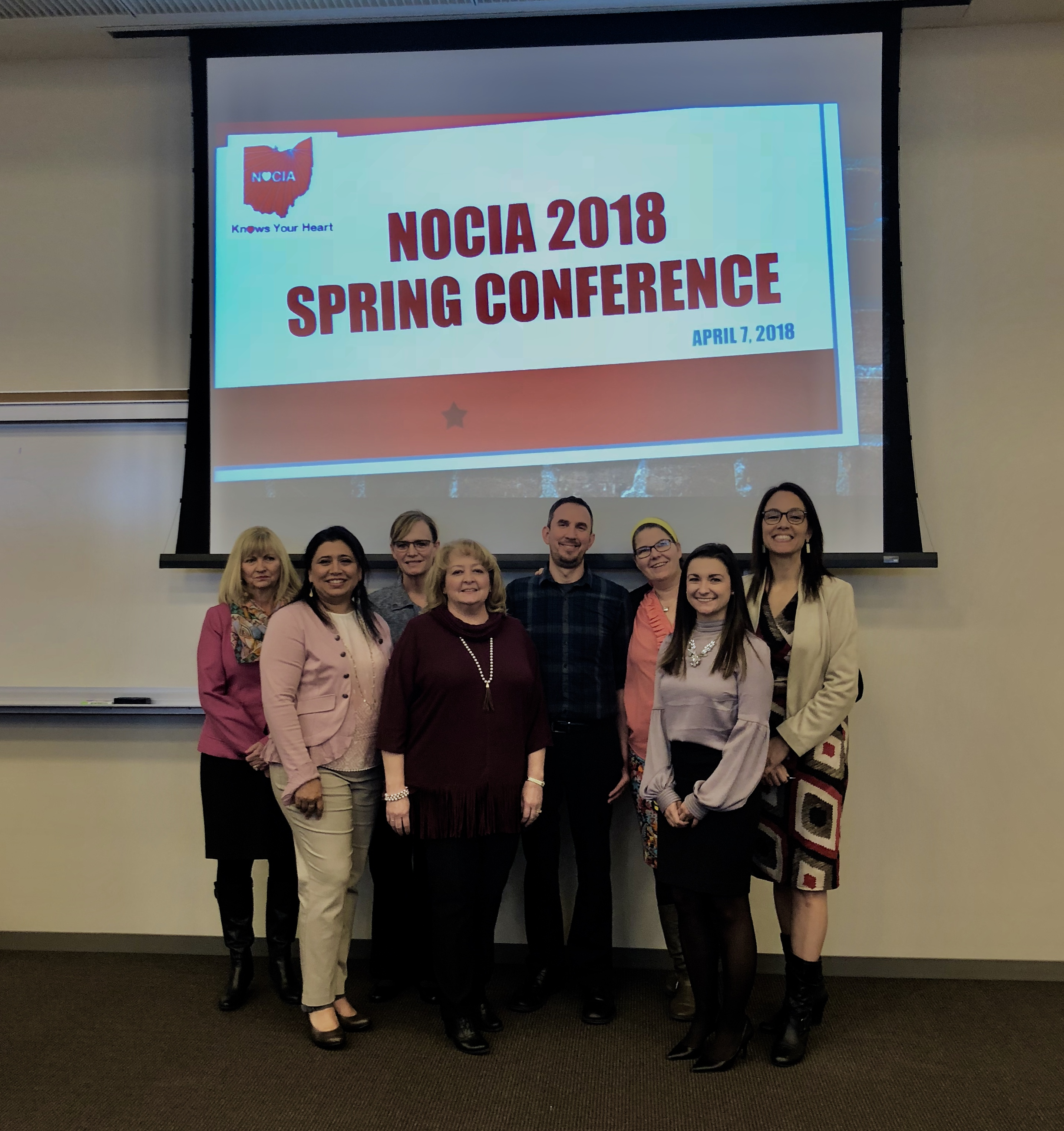 Speakers at the Spring NOCIA conference 2018