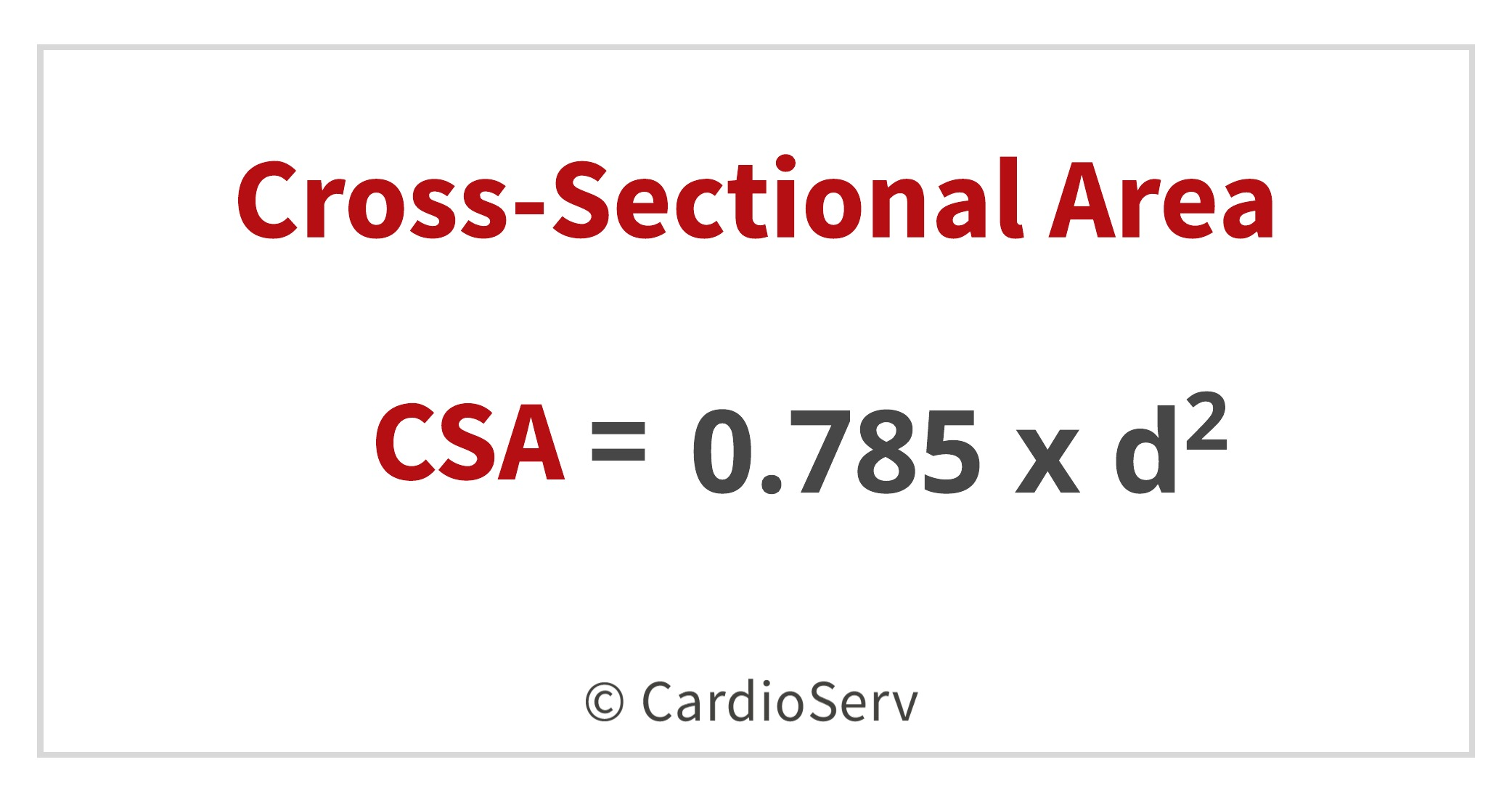 CSA Cross-sectional area