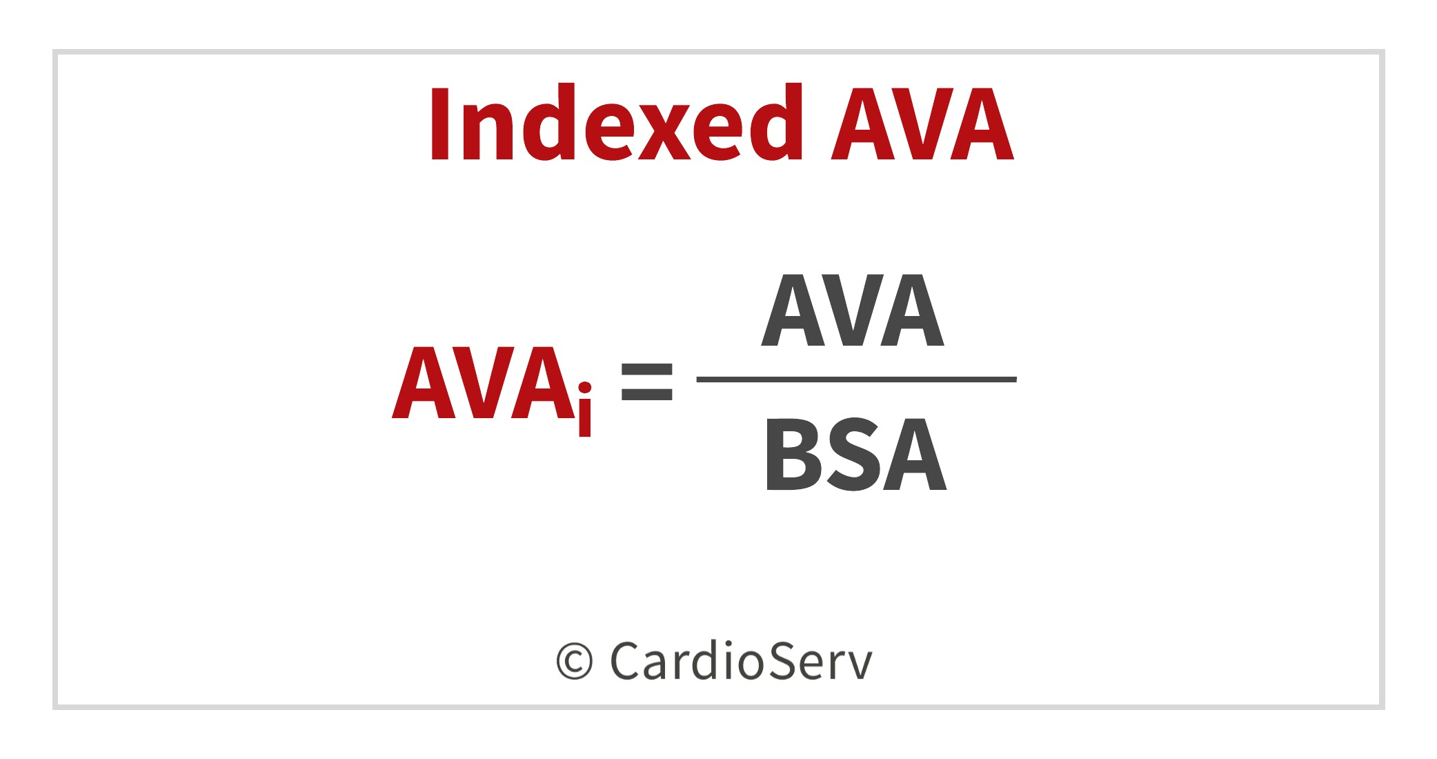 Indexed AVA Equation Echo