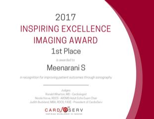 ultrasound appreciation award