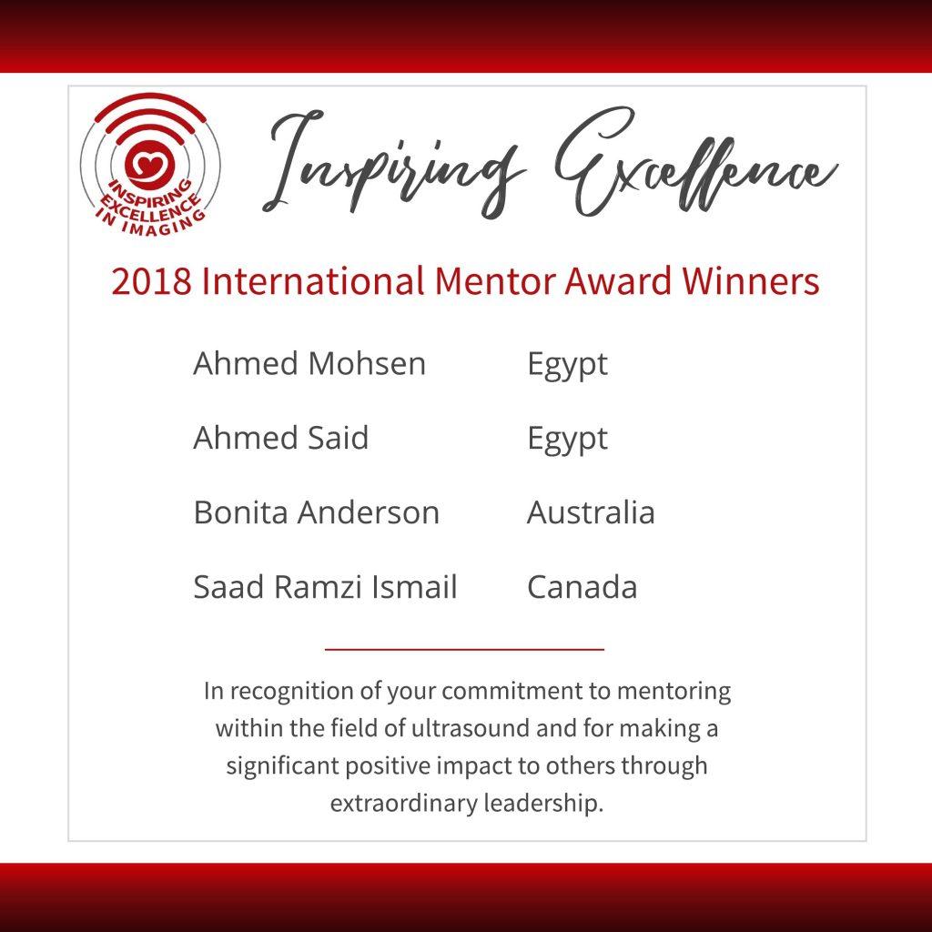 International Mentor Award Winners