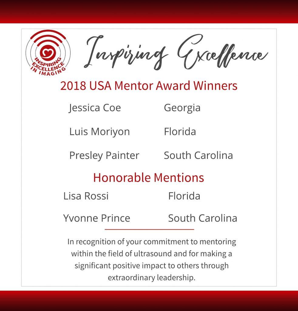 USA Mentor Award Winners