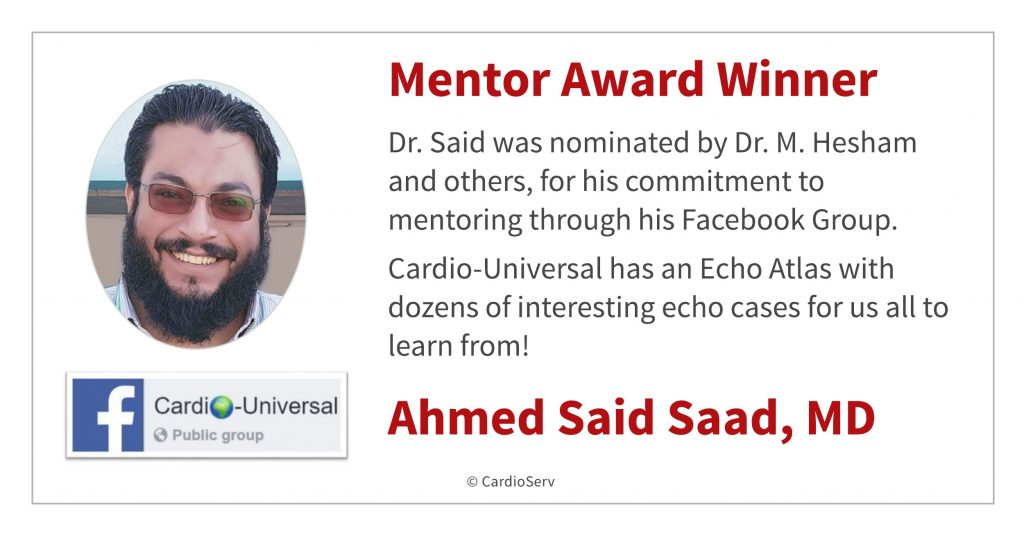 Dr. Said Mentor Award