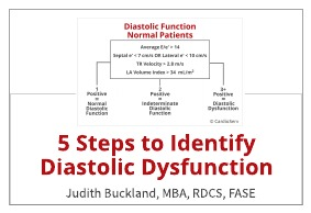 5 Steps to Identify Diastolic Dysfunction in Echo