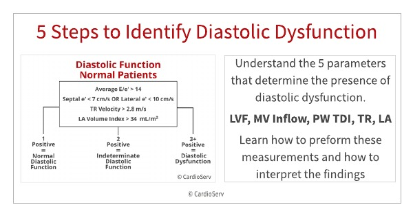 How to measure diastolic dysfunction echocardiography