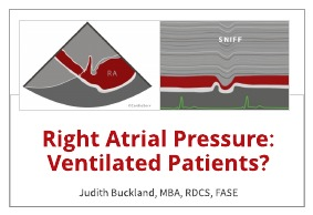 Right Atrial Pressure ventilated patients