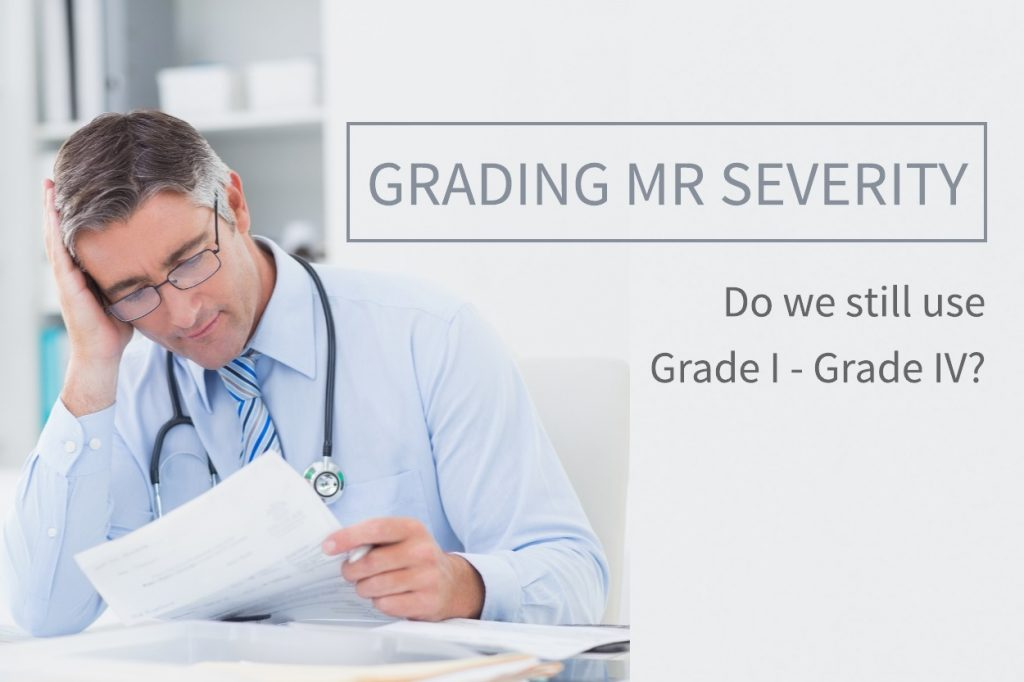 Grading MR severity with echo